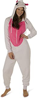 Women's Plush Warm Cozy Character Adult Onesies for Women One Piece Novelty Pajamas