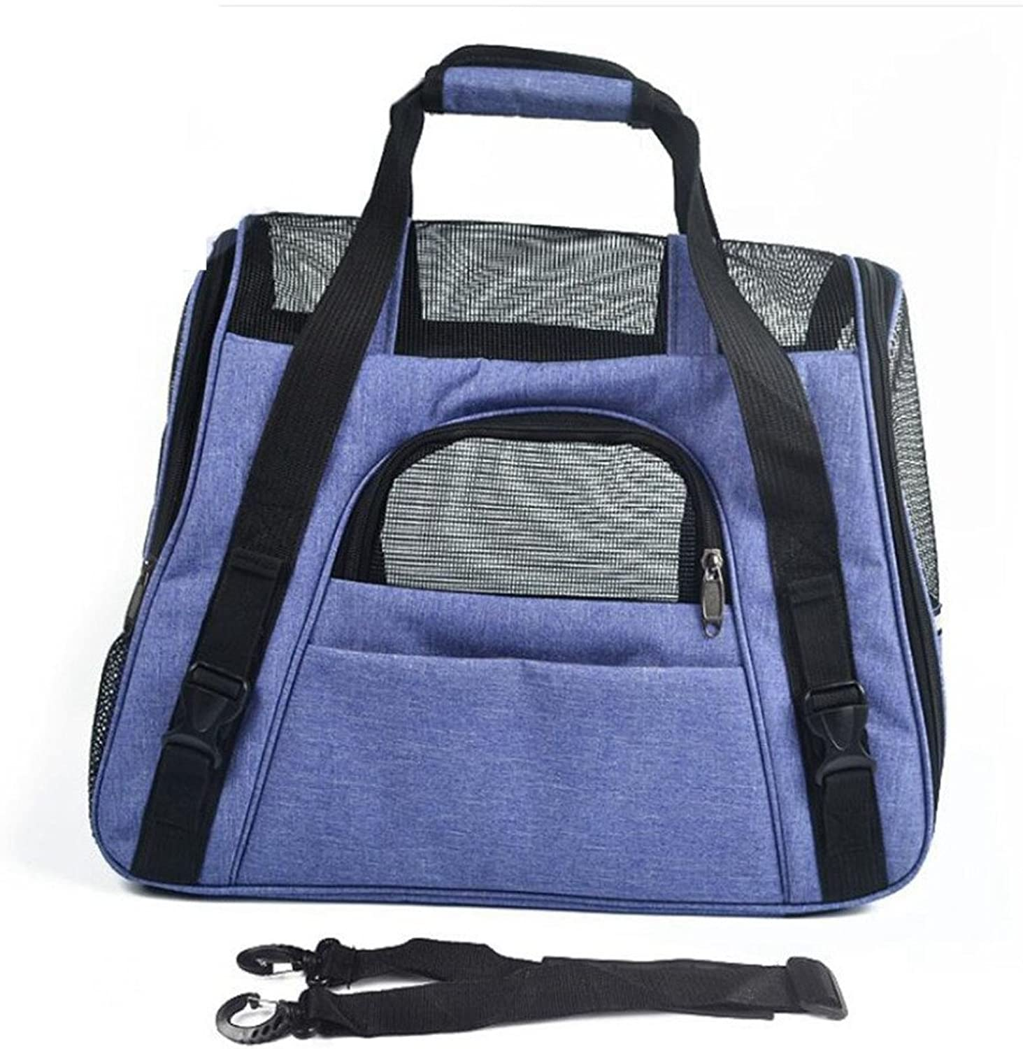 Dixinla Pet Carrier Backpack Pets out Pack Oxford cloth out Portable pet bag breathable doggy folding bag 46x23x35cm