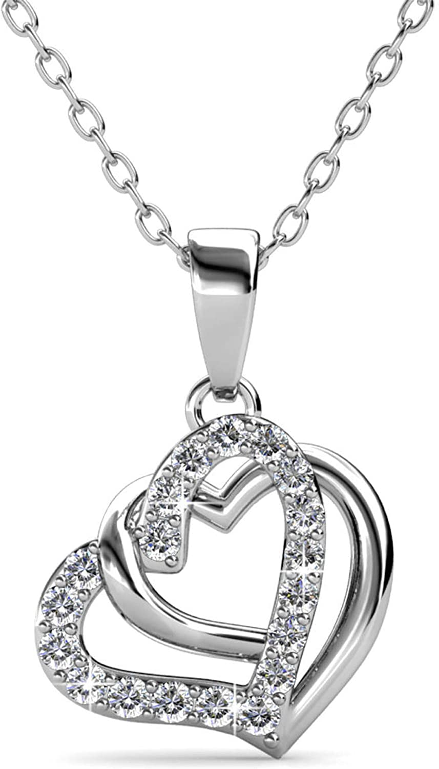 Love Heart 18K White Gold Plated Eleg Lovely Limited price sale Pendant Necklace New Shipping Free