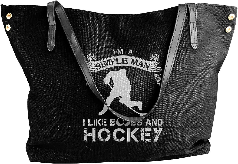 Women's Canvas Playing Hockey Awesome Tote Handbag Work Bag