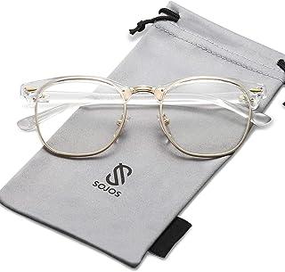 SOJOS Semi Rimless Polarized Sunglasses Half Horn Rimmed...
