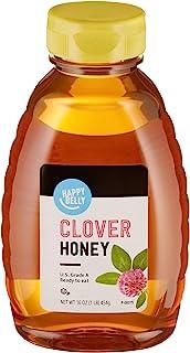 Amazon Brand - Happy Belly Clover Honey, 16 Ounce