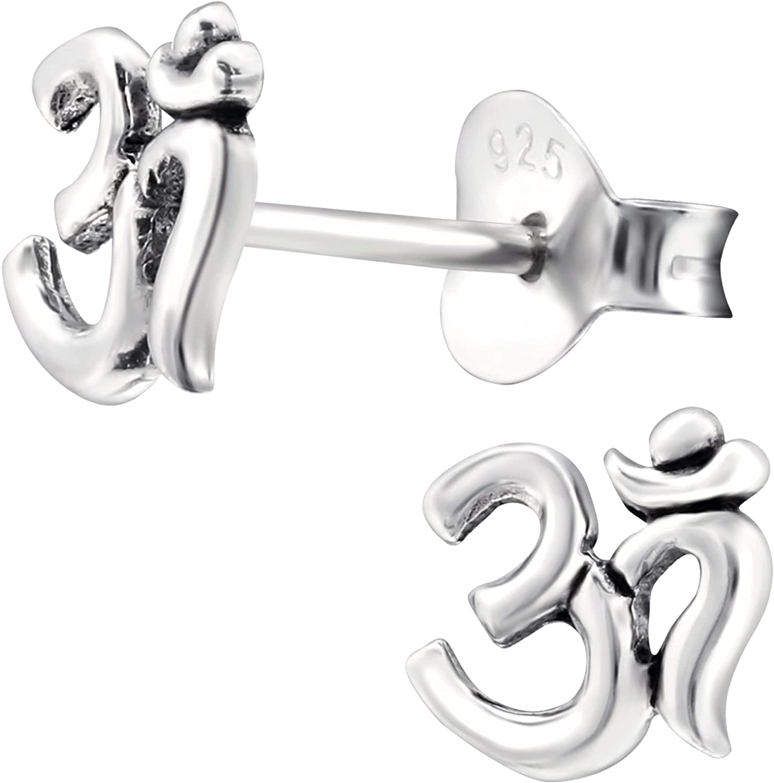 EYS JEWELRY Pendientes para mujer, símbolo OM, plata de ley 925, pendientes para mujer