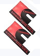 Cummins Turbo Diesel Emblems, Badges High Output Nameplate Replacement Sticker for RAM 2500 3500 Fender Emblem (Red)