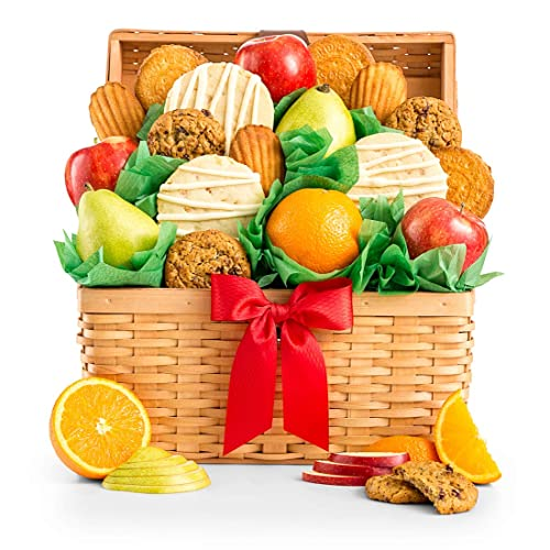 GiftTree Fresh Fruit And Gourmet Cookies Gift Basket
