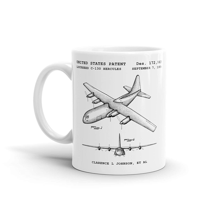 NEW Lockheed C-130 Hercules Max 78% OFF Aircraft Patent Aviation Mug; Coffee Cof