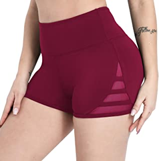 Dielusa Gym Shorts for Women Stretch Mini Athletic Wicking fit Yoga Workout Running