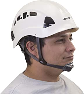JORESTECH Hard Hat White ABS Work-At-Height and Rescue Slotted Ventilated Helmet with 6-Point Ratchet Suspension ANSI Z89.1-14 Certified For Work, Home, and General Headwear Protection HHAT-04