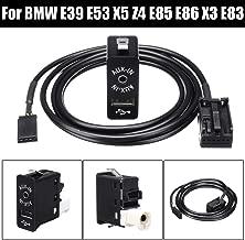 BAGUIO STORE Car AUX USB Port 12 Pin bluetooth Interface Switch Panel Music Adapter for BMW for Mini Cooper E39 E53 X5 Z4 E85 E86 X3 E83