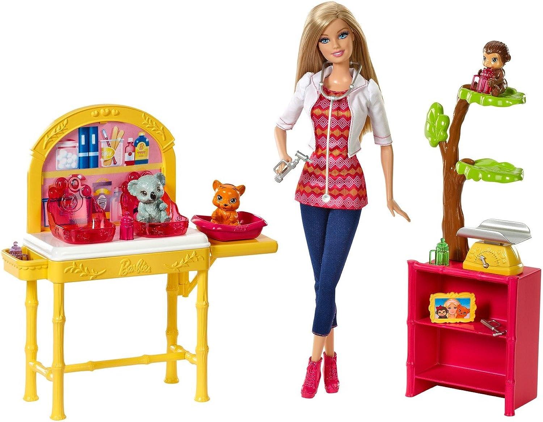 Barbie Mattel CBL19 - Ich wre gern Zoo-Tierrztin Deluxe Spielset