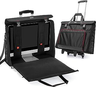 CURMIO Bolsa de Transporte rodante con Ruedas Compatible con el Ordenador de sobremesa Apple iMac de 27 Pulgadas, maletín ...