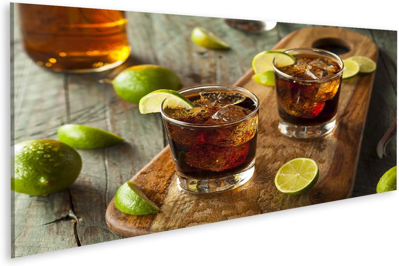 islandburner Cuadro en Lienzo Ron Cola Cuba Libre Lime Ice ...
