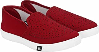Axter Women's Red-779 Loafer