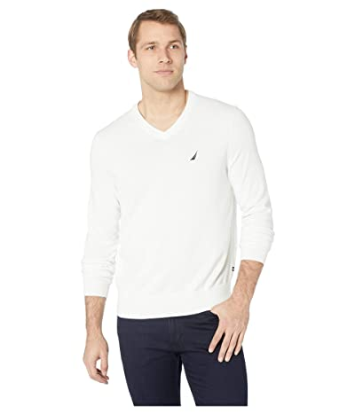 Nautica V-Neck Sweater (Marshmallo) Men