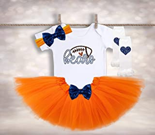 Baby Girl Football Outfit - Chicago Bears Shirt - Bears Fan Gift - Chicago Bears Baby - Baby Shower Gift - Tutus and Touchdowns