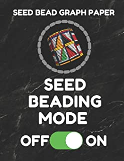 Seed Bead Graph Paper: Book For Designing Seed Beading Patterns, 8.5 By 11 Inches, Large Size, Funny Mode Black Cover