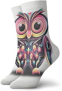Pengyong, Pengyong - Calcetines para hombre y mujer con diseño de búhos coloridos y transpirables