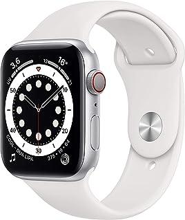Nuevo AppleWatch Series6 (GPS+Cellular, 44 mm) Caja de Aluminio en Plata - Correa Deportiva Blanca