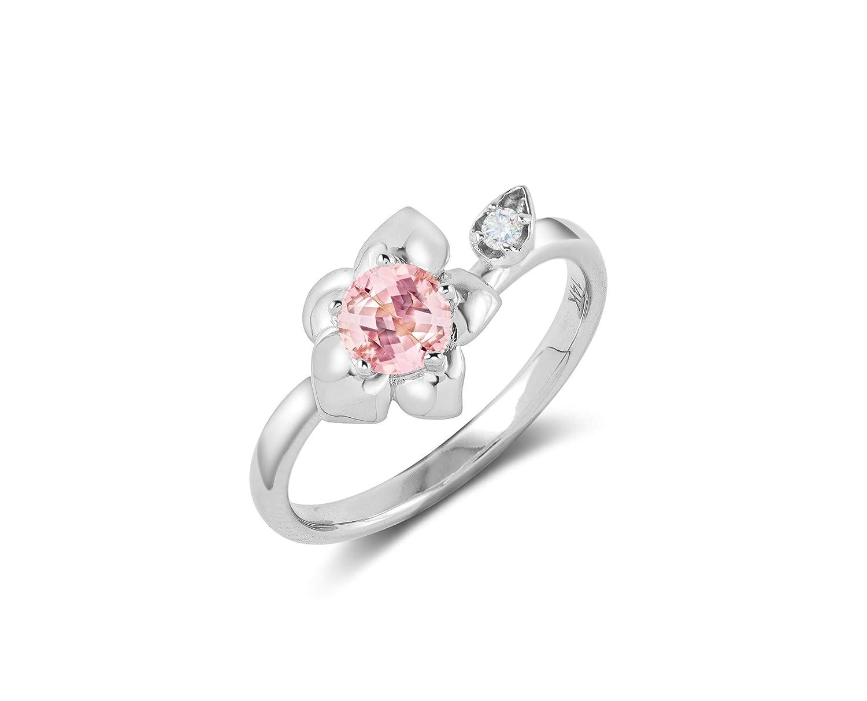 Morganite engagement ring-Alternative eng trust ring-Flower Max 41% OFF