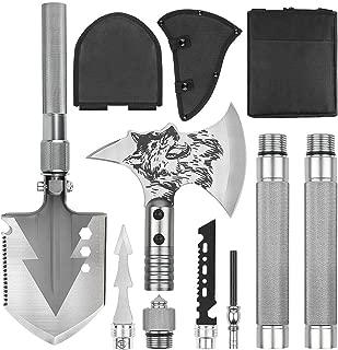 CASAVIDA Camping Axe Survival Hatchet Backpacking Kit, Throwing Hatchet with Hammer Sheath Whistle
