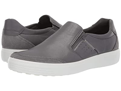 ECCO Soft 7 Relaxed Slip-on (Titanium/Dark Shadow) Men