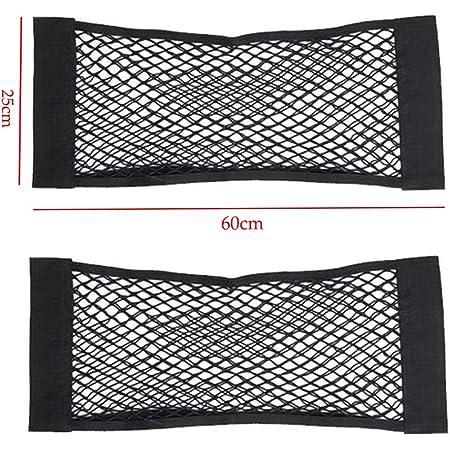 Kofferraum Netztasche 2 Stück Auto Gepäcknetz 60 X 25cm Universal Kofferraumnetz Schutznetz Elastisch Kofferraum Aufbewahrung Netz Mit Klettverschluss Für Auto Suv Kofferraum Gepäcknetz Aus Nylon Auto