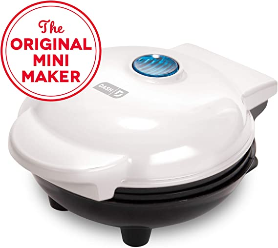 Dash DMS001WH Mini Maker Electric Round Griddle for Individual Pancakes