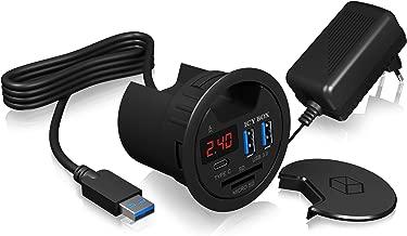 ICY BOX Card Reader USB Hub Combo USB 3.0 Black [IB-HUB1404]