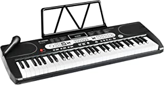 $69 » LAGRIMA LAG-740 61 Key Portable Electric Keyboard Piano with Built In Speakers, LED Screen, Microphone, Dual Power Supply,...