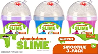 Cra-Z-Art Nickelodeon Slime Scented Slime Smoothie Pre-Made Slime 3pk