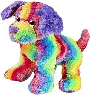 Cuddly Soft 16 inch Stuffed Rainbow Stripe Dog...We stuff 'em...you love 'em!