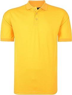 Kam Mens Big Size Performance Breathable Mesh Sports Polo Shirt (5401)