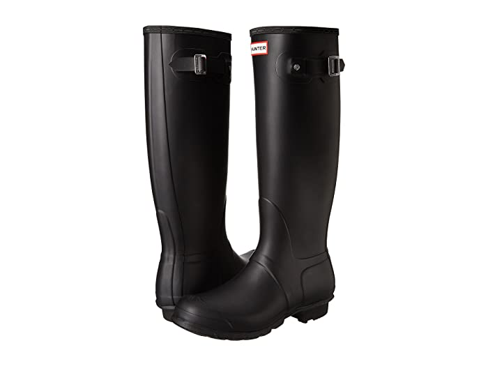 Hunter Original Tall Rain Boots (Black) Women's Rain Boots