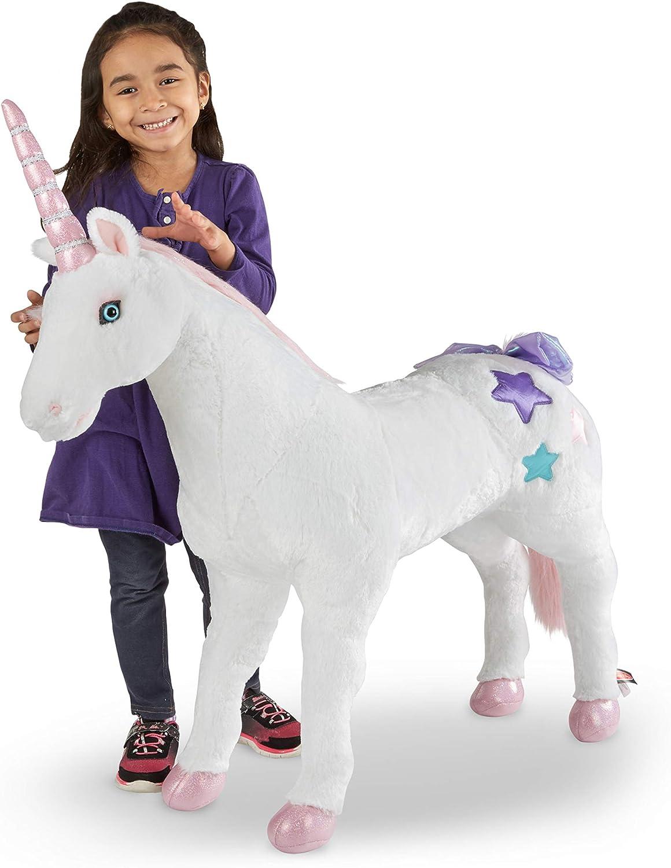Melissa Doug Giant Department store Unicorn - Lifelike over overseas Stuffed Animal 2 f
