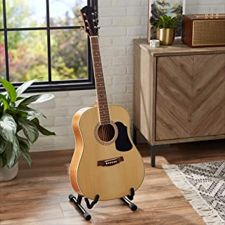 AmazonBasics Beginner Acoustic Guitar with Strings, Picks, Tuner, Strap, and Case - 41-Inch, Spruce and Basswood