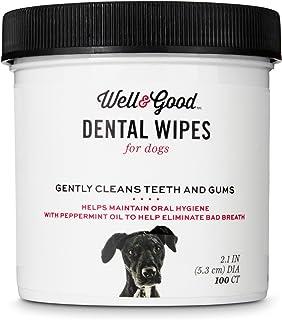 Well & Good Dog Dental Wipes, Pack of 100 wipes