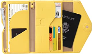 Multi-function Passport Package Travel Abroad Travel Document Package Travel Storage Money Card Package yellow yellow