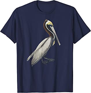 Pelican T-shirt Vintage Bird Graphic Tee Brown Pelican
