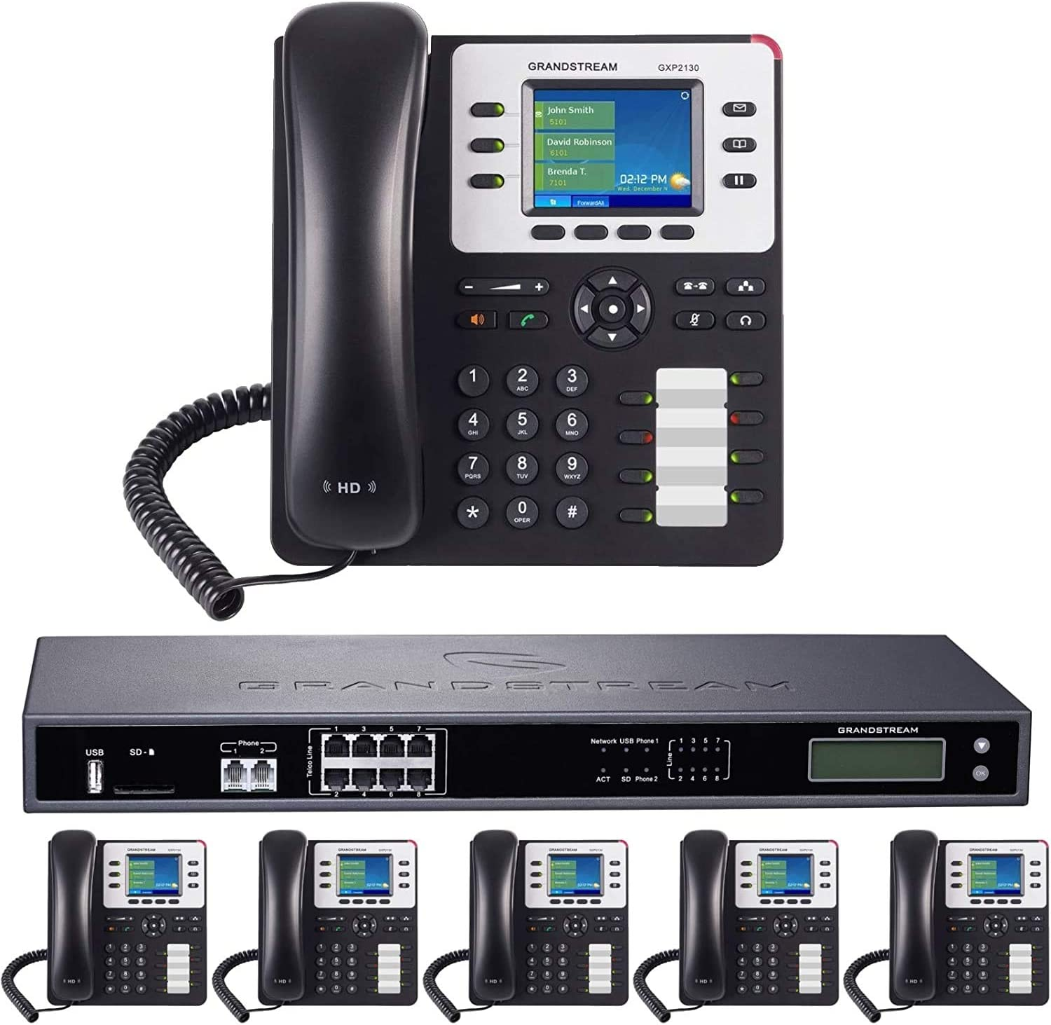 8-Line Opening large release sale Business Phone shopping System: Enhanced Pack Auto Voicemail with