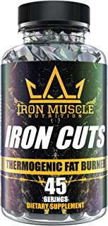 Iron Cuts fat Burner Capsules - Thermogenic Fat Burner for Men and Women High Dose Weight Loss