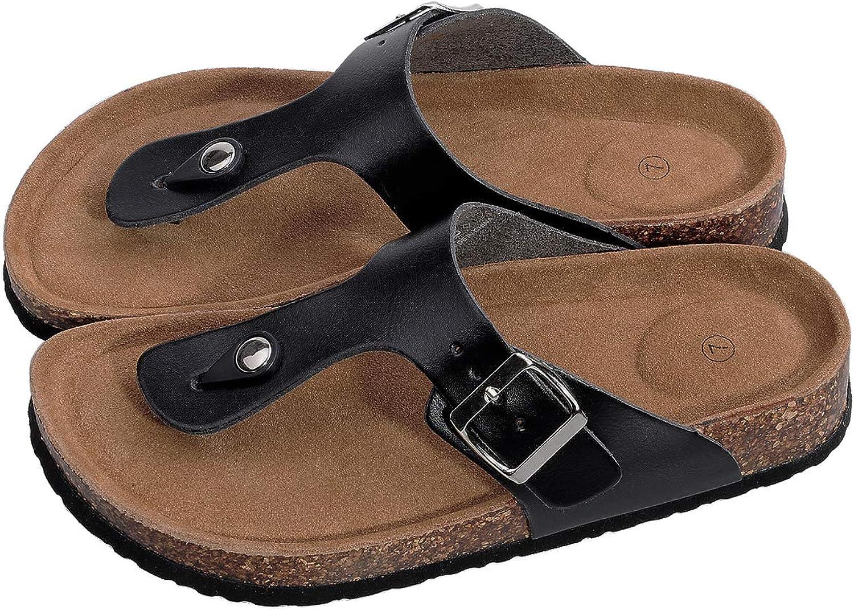 Festooning Women's Adjustable-Fit Cork-Footbed Summer Slide Sandals