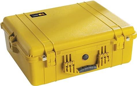Peli 1600 with Foam  Yellow...