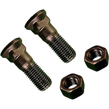 #3 Head Grade 8 Steel Plow Bolts 1-8 X 2-1//2 50 pcs Dome Head Plain