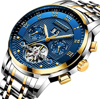 Mens Watches Luxury Fashion Automatic Date Stainless Steel Waterproof Mechanical Watch Gents Casual Business Dress Gents
