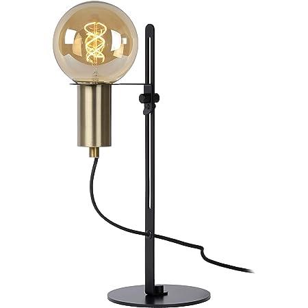 Lucide 45578/01/30 Lampe de Table, Acier, 60 W, Noir, Or Mat