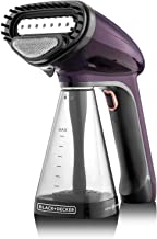 Black+Decker 1500W Handheld Portable Garment Steamer with Auto Shut-Off, Purple - HST1500-B5, 2 Year Warranty