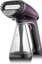 Black+Decker Handy 1500W Portable Garment Steamer with Auto Shut-Off, HST1500-B5, Purple, 2 Year Brand Warranty