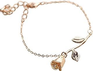 beauty and the beast rose bracelet