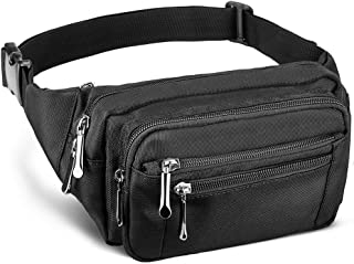 DYJ Waist Pack Bag with Rain Cover, Large Capacity Fanny Pack for Men&Women Hip Bum