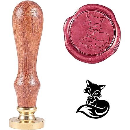 Retro-Oster-Tiermuster DIY-Dekoration Siegelwachsstempel Siegelstempel Wachssiegel-Stempel F023